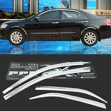 Chrome Side Vent Sun Shade Window Visors Rain Guard Deflectors For Toyota Camry