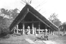 ASSAM. A Naga palaver House; unmarried young men of village sleep 1900 print
