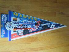 "MARK MARTIN No. 6 VALVOLINE Roush Racing 30"" Pennant w/ Button & Decal"