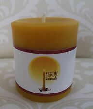 "Handmade 100% Beeswax Candle - 3"" wide x 3"" tall pillar"