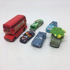 DISNEY PIXAR CARS Lot of 6- Double Decker Bus #86 #42 Wild Miles Axlerod