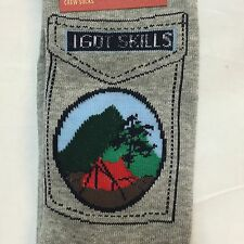 I Got Skills Dress Crew Socks C&ing Hiking Tent Mountains Mens Shoe Sizes 6-12 & Mossimo Dress Socks for Men | eBay