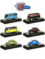 AUTO THENTICS VOLKSWAGEN 6 CARS SET RELEASE 3 W/CASES 1/64 BY M2 32500-VW03