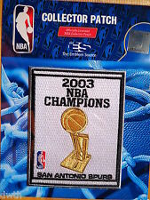 Official San Antonio Spurs 2003 NBA Championship Iron or Sew on Banner Patch