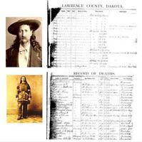 Wild Bill Hickok Photos + 1876 DEATH CERTIFICATE Deadwood,Gunfighter,Sheriff