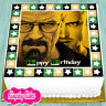 PRECUT EDIBLE ICING 7.5 INCH HAPPY BIRTHDAY BREAKING BAD CAKE TOPPER S1438