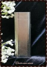 New listing Authentic Vintage Maruman Ic-502 Silver brushed finish Gas Lighter ~Classic 70's