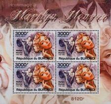 Marilyn Monroe 4-valeur STAMP SHEET #2 (2011 Burundi)