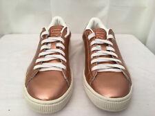 PUMA 363192 01 Mens Copper Metallic White Basket Classic Citi Sneaker Sz 7.5 EUC