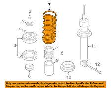 BMW OEM 06-08 750i Rear Suspension-Coil Spring 33536762984