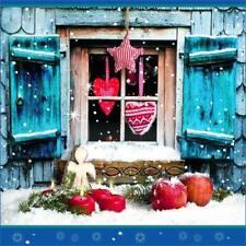 Art de la table de fête serviettes bleu pour la maison Noël