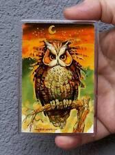 Vogel, Eule / Kühlschrank oder Office Magnet /Kunstdrucke Maße:95x65mm S.Hahonin