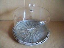 Rattantablett mit Glashaube und Glasplatte 29 x 23 cm  Impressionen tableware