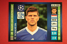 PANINI CHAMPIONS LEAGUE 2013/14 N. 357 HUNTELAAR SCHALKE 04 BLACK BACK MINT!