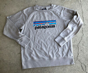 Patagonia Youth XL Gray Long Sleeve Graphic Tee Shirt Spellout