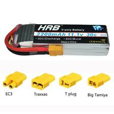 HRB 2200mAh 11.1V 3S Lipo Battery 30C 60C XT60 For RC Trex 450 Helicopter Drone