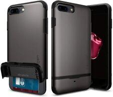 Spigen iPhone 7 plus Case Flip Armor 5.5 Cover gun metal