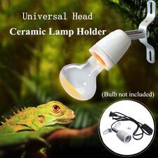 E27 400W Reptile Ceramic Heat Lamp Holder w/ Light Switch Socket Lamp Fitting