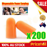 200 Pairs 1100 Disposable Foam EarPlug Noise Reducer Uncorded Individual Wrap AU