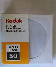 600 Kodak DVD/CD Paper Sleeves, High Quality Envelopes w/ Plastic Window 120 GSM