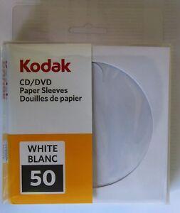 600 Kodak DVD / CD Paper Sleeves High Quality Envelopes w/ Plastic Window 120GSM
