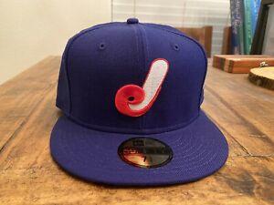 Jacksonville Expos Royal Gray Jumbo Shrimp Montreal New Era Fitted hat 7 3/4