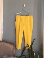 NWT Talbots Chatham Yellow Pants in Size 14 petite