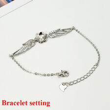 Sterling Silver Mount Chain Bracelet Blank Angel Wing Boho Bead Pearl Peg Cup CZ
