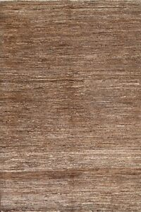 Abstract Gabbeh Modern Oriental Area Rug Hand-knotted Wool Decorative Carpet 5x7