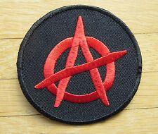 Aufnäher / Aufbügler/ Patch: ANARCHY -  Logo - rot - Rar!
