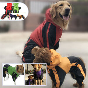 Thicken Dog Pet Raincoat Waterproof Rain Jacket Full Body Clothes Outfits XS-XL