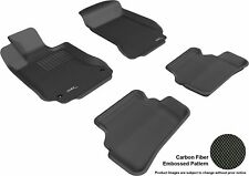 For 2008-2014 Mercedes-Benz C300 Kagu Carbon Pattern Black Custom Fit Floor Mat