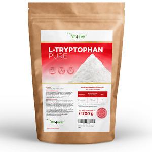 L-Tryptophan Pulver 200g - 100% Rein - Vegan o. Zusätze + Dosierlöffel Schlaf