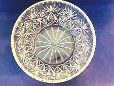 "Vintage Cut Crystal Large 8"" Round Serving Bowl"