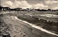 Ostseebad Travemünde Schleswig Holstein s/w AK 1955 datiert Strand ungelaufen