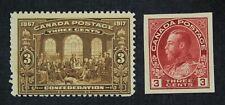 Ckstamps: Canada Stamps Collection Scott#135 138 George Mint Vlh Og