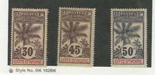 Ivory Coast, Postage Stamp, #28, 31-32 Mint Hinged, 1906-7, JFZ