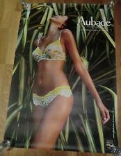 AUBADE Advertising Poster 93cm x 63cm Sexy Lingerie Nude, Essence de Parfum