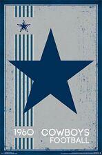 Dallas Cowboys Retro Logo Poster Art Print T13171