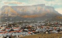 POSTCARD   SOUTH  AFRICA    CAPE  TOWN &  Table  Mountain