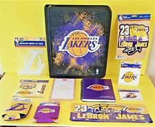 LA Lakers LeBron James Official License Plate Binder Notebook Decals Koozies-NEW