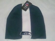 Seattle Seahawks Knit Beanie Winter Hat Toque Skull Cap NEW Skunk - Blue