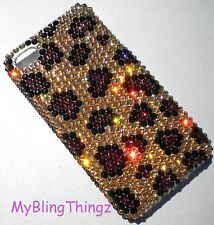 LEOPARD Crystal Rhinestone Back Case for iPhone 5 5S made w/ Swarovski Elements