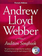 Andrew Lloyd Webber Audition Songbook FEMALE Book + CD