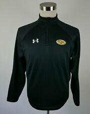 Under Armour Mens Polyester All Season Gear Ls 1/4 Zip Black Shirt Cf Falls S