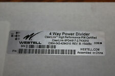 Westell 4 Way Power Divider -153 PIM, High Power 300W (698-2700 MHz) 4.3-10 Conn