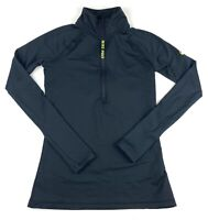 Nike Pro Women's Hyperwarm Running Shirt Sz Small Pullover Mock Neck 1/4 Zip