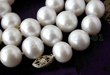 AAA++ 11-12MM NATURAL WHITE ROUND FRESHWATER CULTURED PEARL NECKLACE 18''