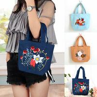 Women DIY Handbag Embroidery Kit Starter Cross Stitch Set Craft Threads DIY