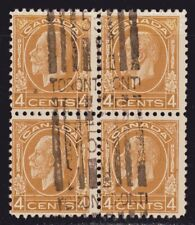 "1932 Canada SC# 198-King George V ""Medallion "" Issue-block of 4-Lot CU295-Used"